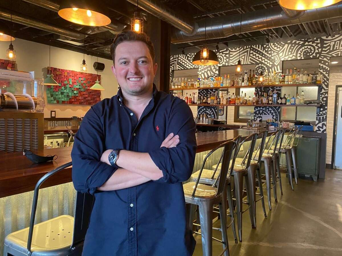 """Hartin Ballabani, owner of Tacomida, will soon be opening Chaplin, what he calls a """"bold, yet classic establishment with American fare,"""" in Bridge Street Commons II - developer Angelo Melisi's new building at 427 Howe Ave."""