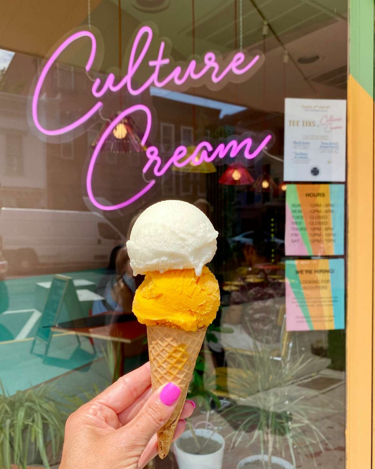 Kefir, a fermented milk with a sour taste, is the base of many of the frozen treats at Culture Cream in Hudson. (Susie Davidson Powell/for the Times Union)