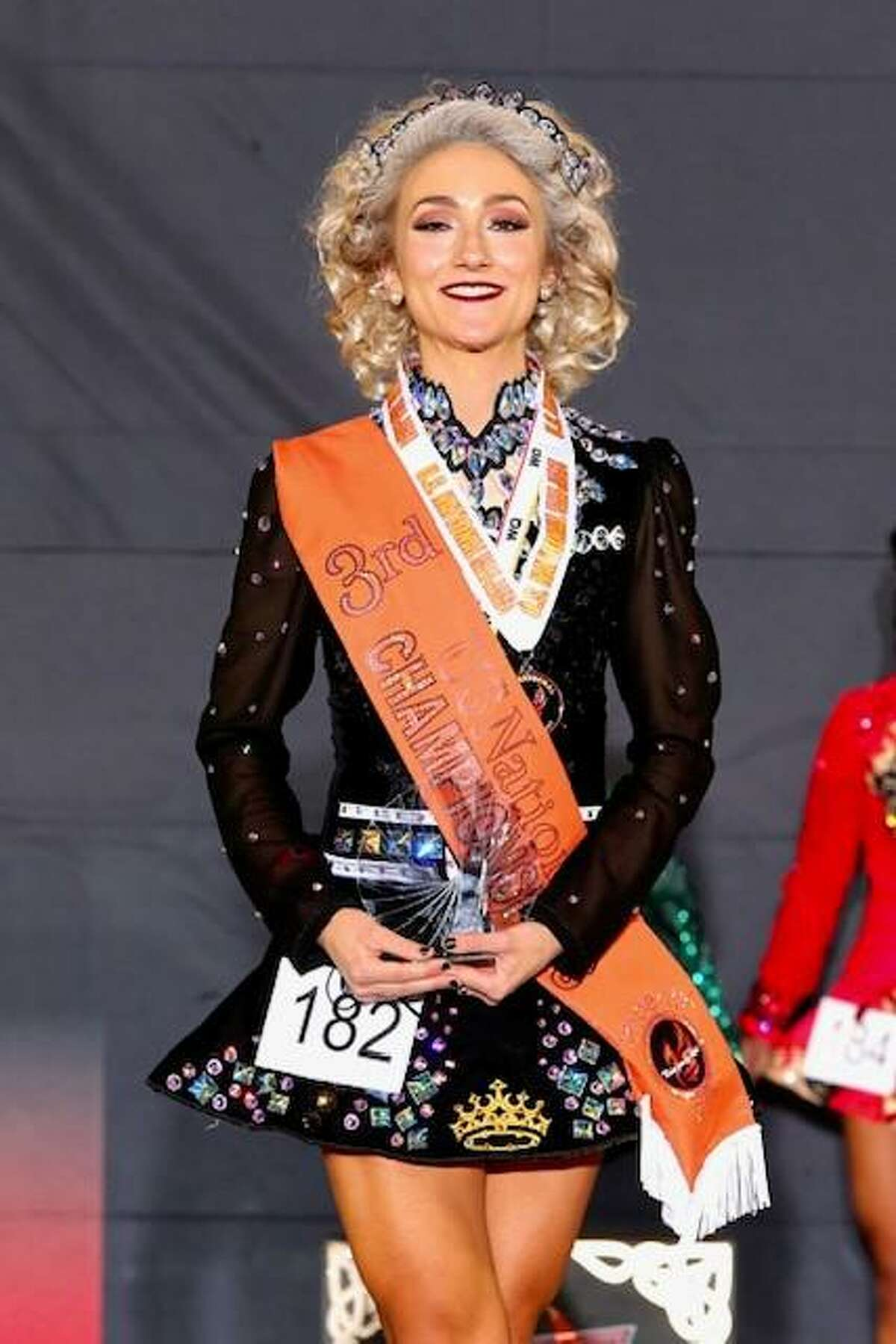 Stamford resident Lauren Beadle won third place in the ladies 22-and-over category at the National Irish Dance Championships in July.