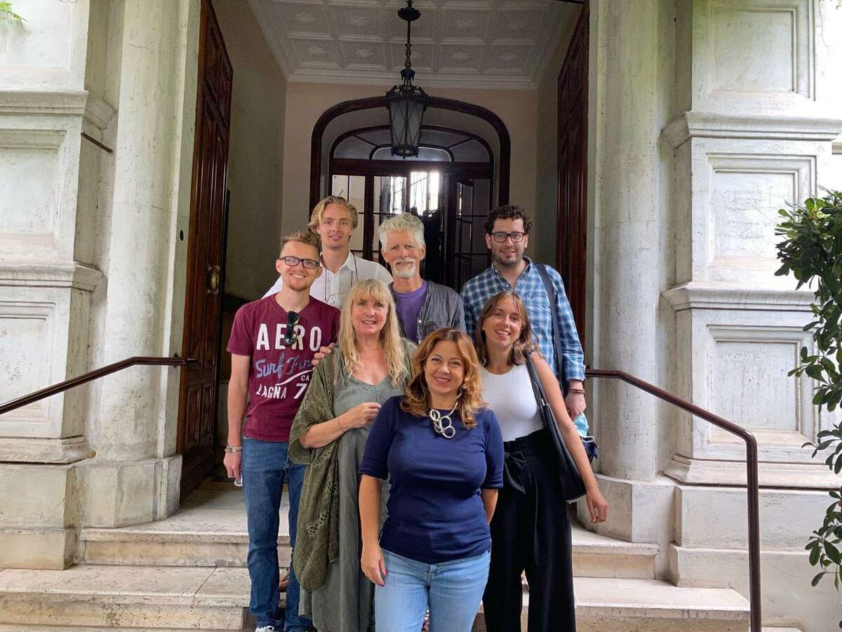 Connecticut Academy for the Arts in Torrington has received a grant to provide Italian studies to local students. The directors, John and Teresa Sullivan, traveled to Italy recently to visit the Centro Linguistico Italiano Dante Alighieri, in Rome. They are pictured with teachers at the school.