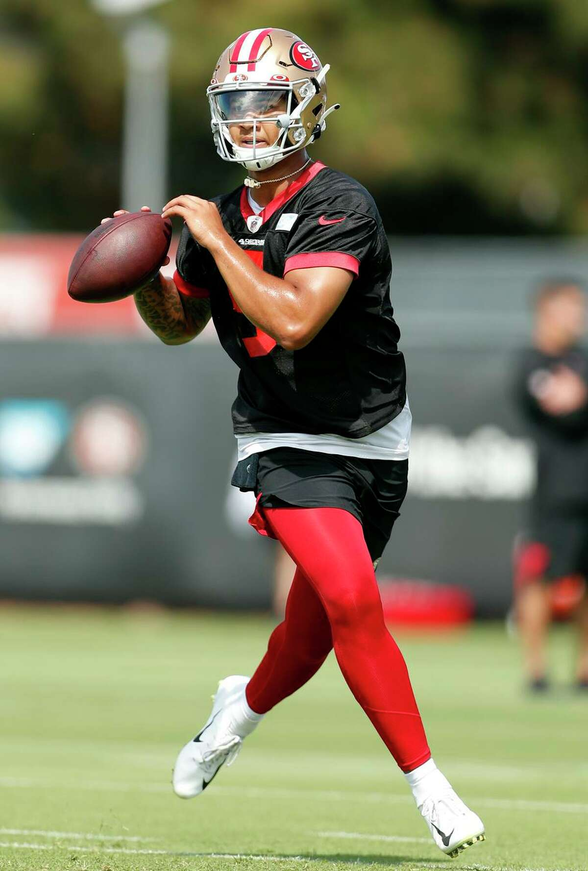 49ers coaches assigned footwork drills to Trey Lance in the spring, and he's shown improved accuracy in training camp.