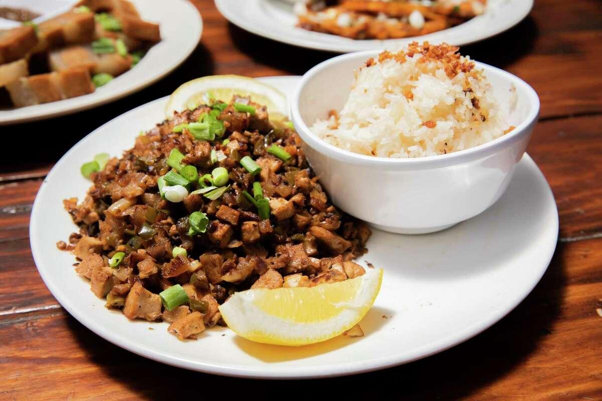 The vegan sisig from Chef Reina.