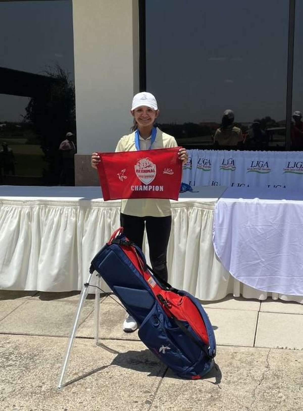 Aly Esparza shot an 88 Monday at the Laredo Country Club to win the Girls 16-18 Division.
