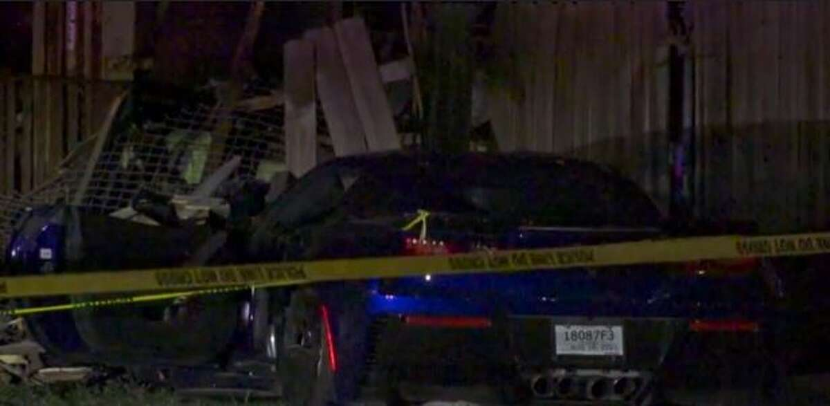 HPD investigating a homicide that happened Monday night in north Houston. One man was shot dead in a car that crashed into a fence, police said.