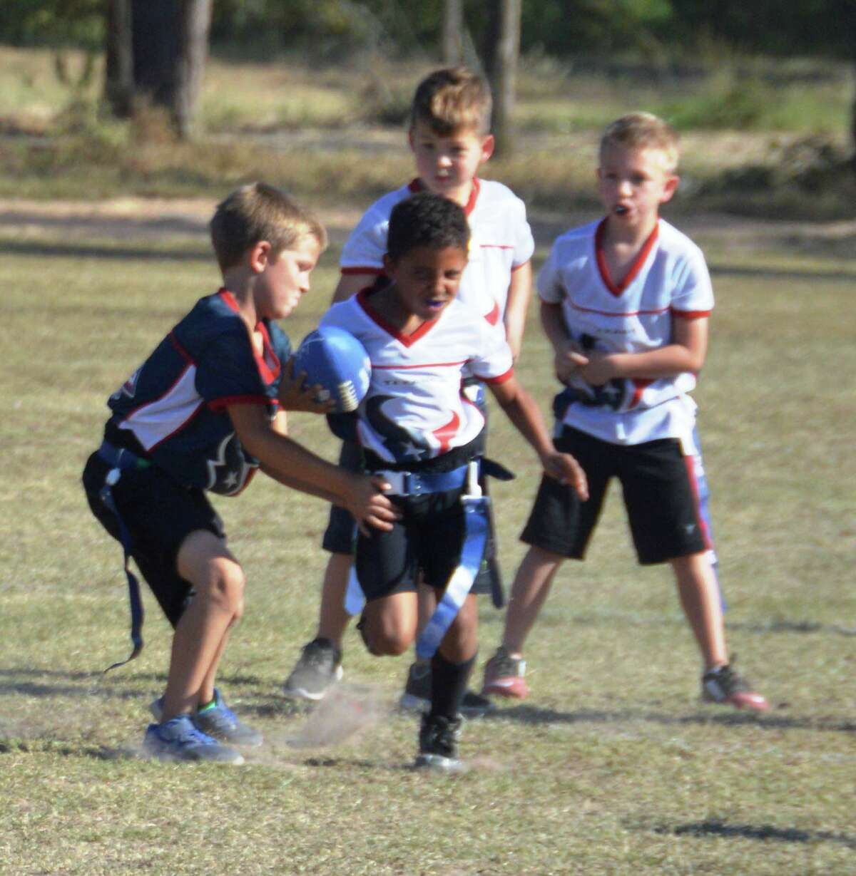 Register for Conroe Youth Flag Football's fall season for boys and girls ages 6-13. Your child will have a blast playing flag football developing speed, skill and agility. Cost is $30 for Conroe residents and $37 for non-residents. Extended registration deadline is Aug. 14.