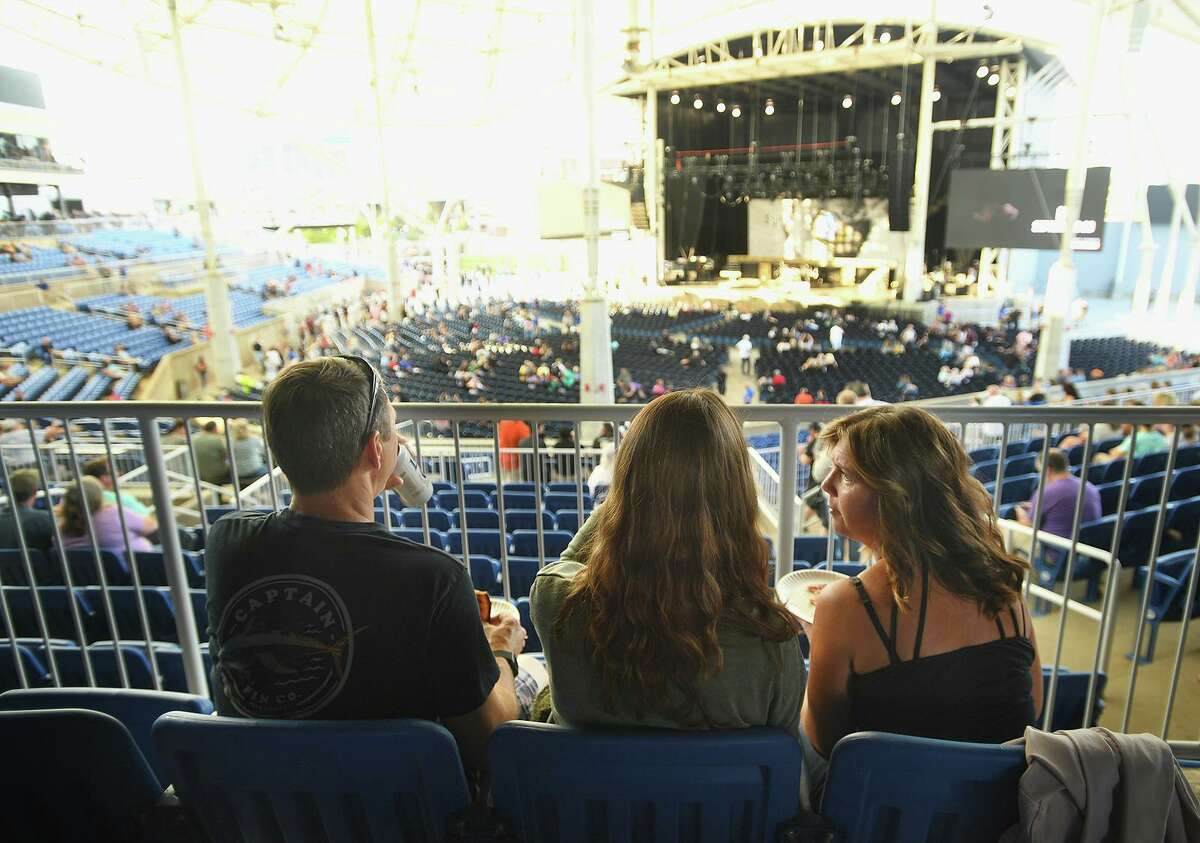 A double bill of classic rock acts REO Speedwagon and Styx perform on the opening night of the new Hartford Healthcare Amphitheater, a conversion of the former Harbor Yard Ballpark, in Bridgeport, Conn. on Wednesday, July 28, 2021.