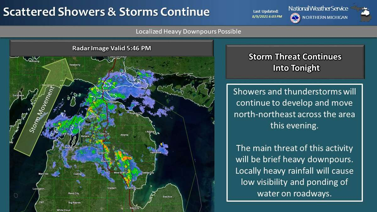 The threat of severe weather has increased for Tuesday and Wednesday in parts of southwest lower Michigan.