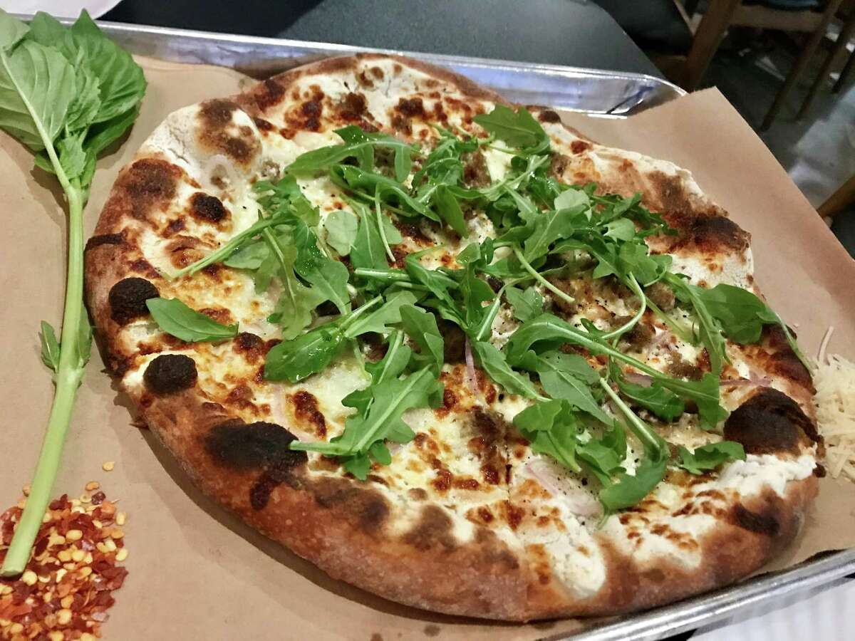 The Sicilian Journey pizza at The Gypsy Poet in Midtown