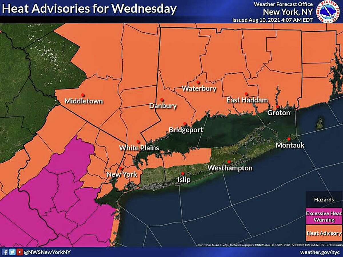 The heat and humidity is picking up Tuesday, Aug. 10, 2021, with a heat advisory issued for Connecticut on Wednesday.