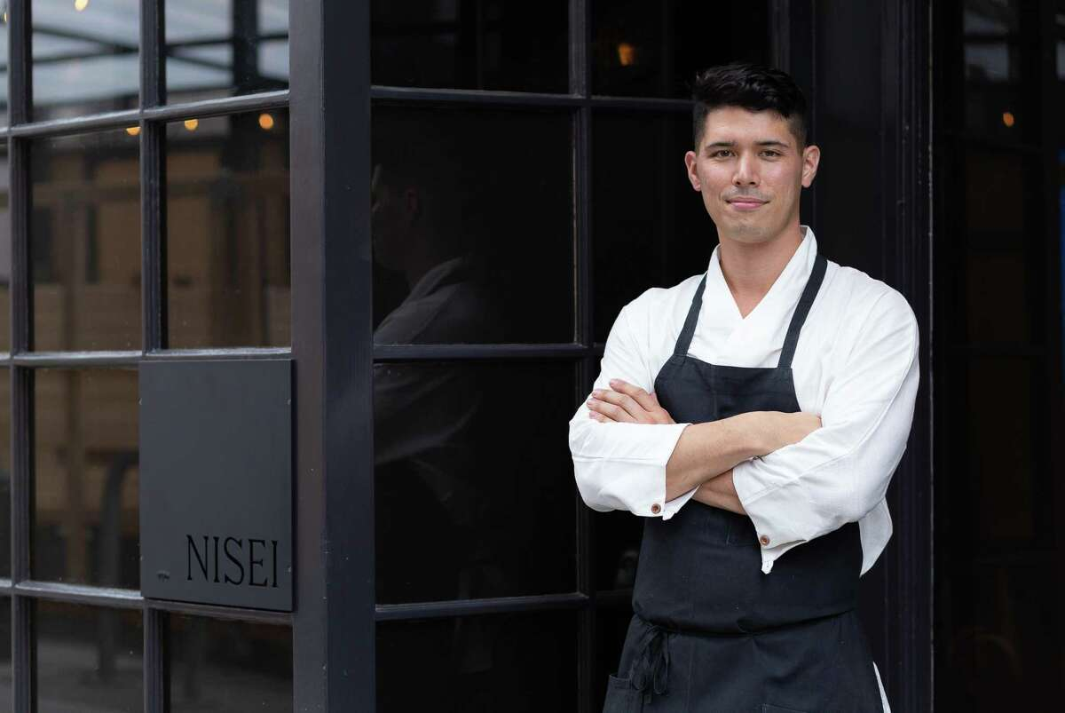 Chef David Yoshimura stands in front of Restaurant Nisei as he and his team prepare for their Aug. 18 opening. Restaurant Nisei is Yoshimura's debut restaurant.