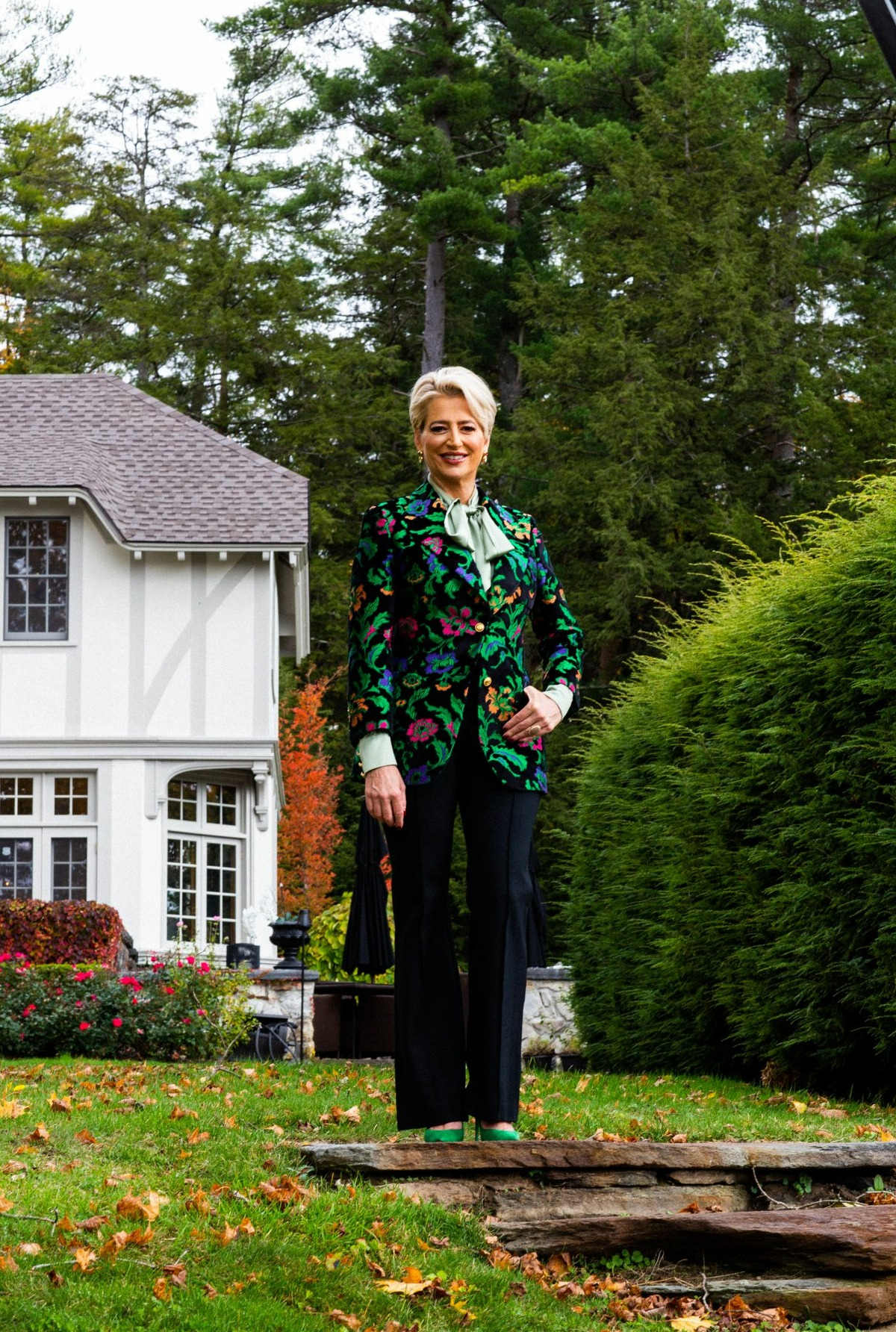 """""""Real Housewives of New York City"""" alum Dorinda Medley has listed her Great Barrington, Mass. Tudor home on Airbnb for two one-night-only stays in Aug. 2021."""