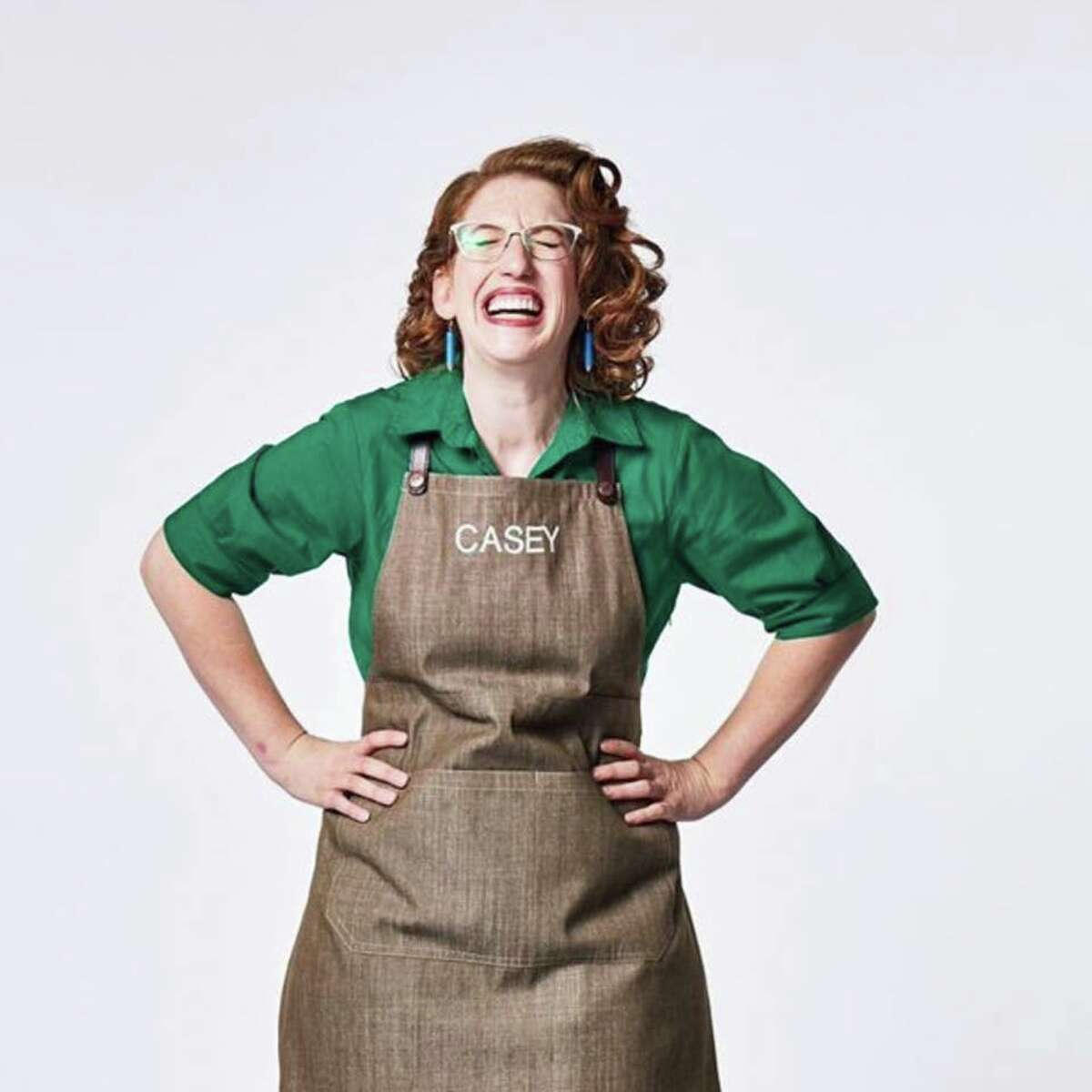 """Casey Hallen in a promotional shot for """"Great Chocolate Showdown"""" on Food Network Canada."""