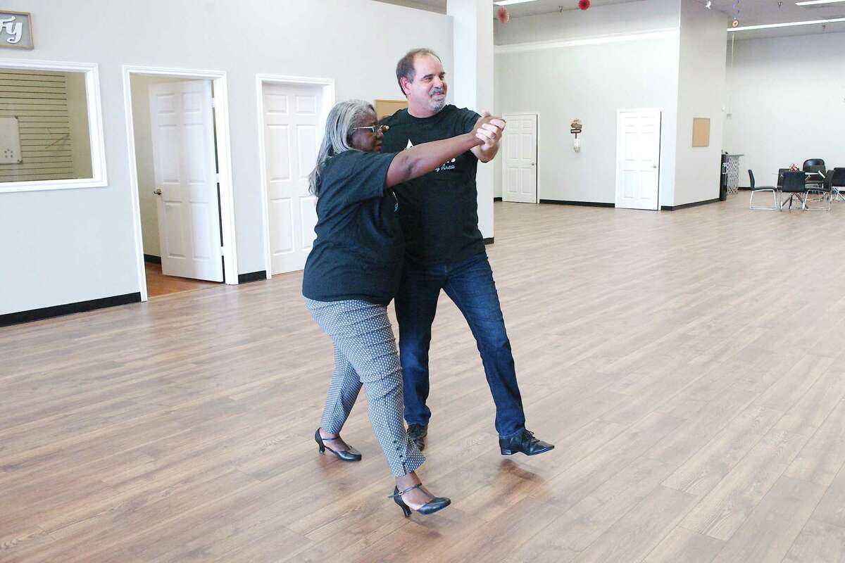 """Chambers and Coppock have been putting in hours of practice for the Aug. 28 at the South Shore Harbor Resort & Conference Center. """"We're gonna win, and I've told (the other dancers) they're gonna lose,"""" Coppock says."""