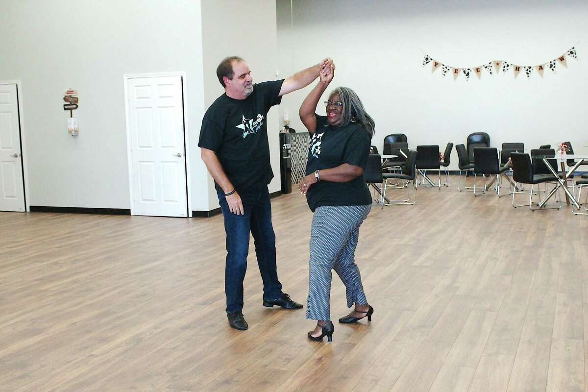 """Chambers and Coppock have been busy practicing for the competition. """"The rehearsals are a lot of work but they're so fun,"""" Chambers said. """"So, I am loving every minute of it."""""""