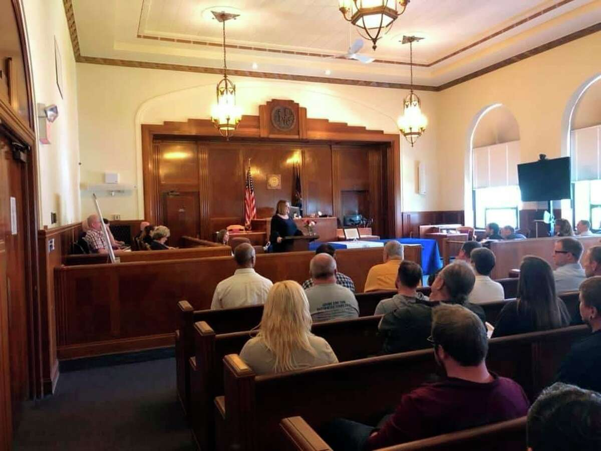 The Thumb Regional Sobriety Court helps people recover from substance abuse issues over a 15 to 24 month period of time. Program graduations like the one pictured normally take place twice a year, though this Friday's ceremony will be the first one since November 2019. (Courtesy Photo)
