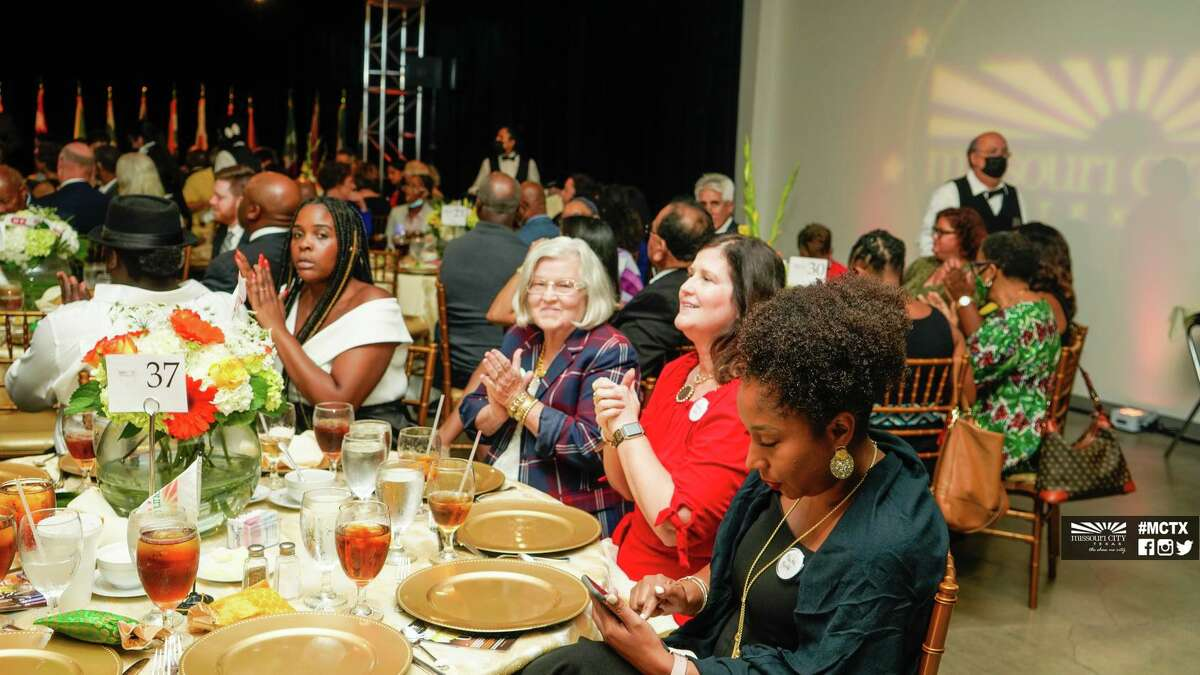 Guests applaud at the Missouri City State of the City Gala on Thursday, Aug. 5, at the City Hall Complex.