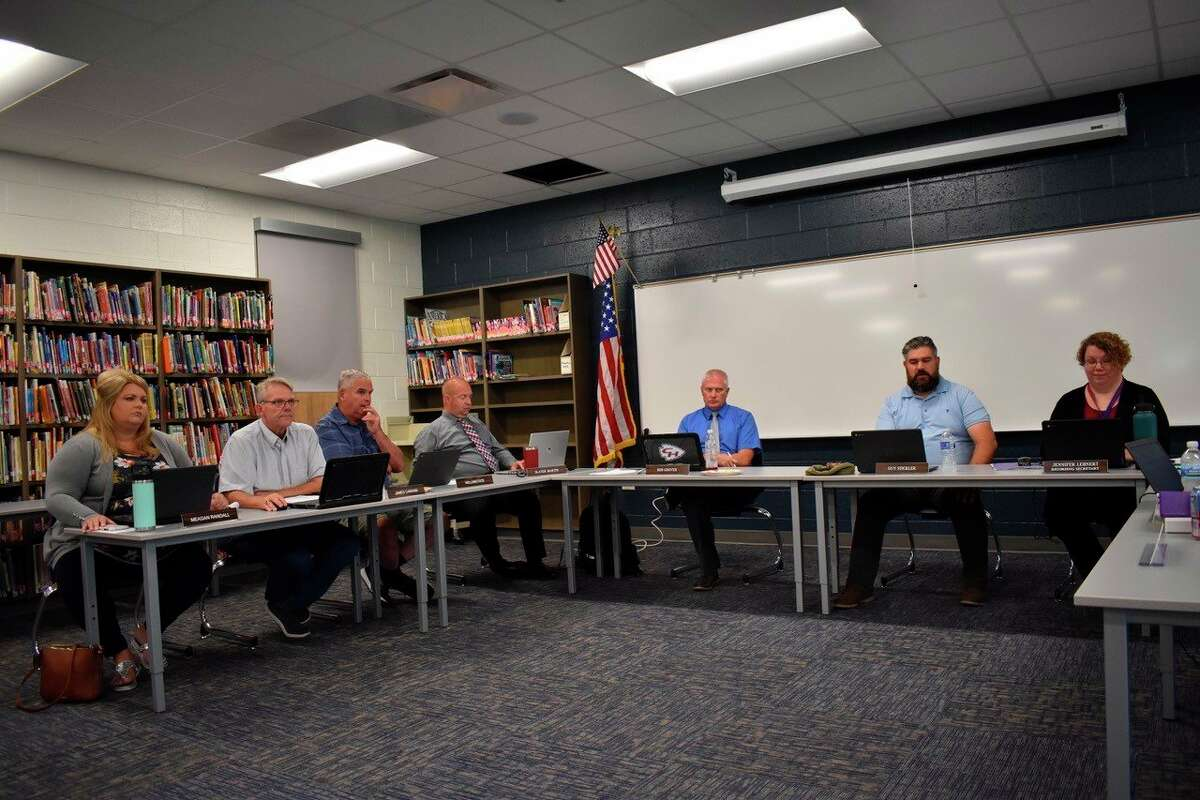 The Chippewa Hills School District Board of Education met on Aug. 9 to address updates on masking, vaccination protocol, bussing, construction, and staffing for the fall. The administration said it plans to maintain the choice of masking for students and vaccinated staff. (Pioneer photo/Olivia Fellows)