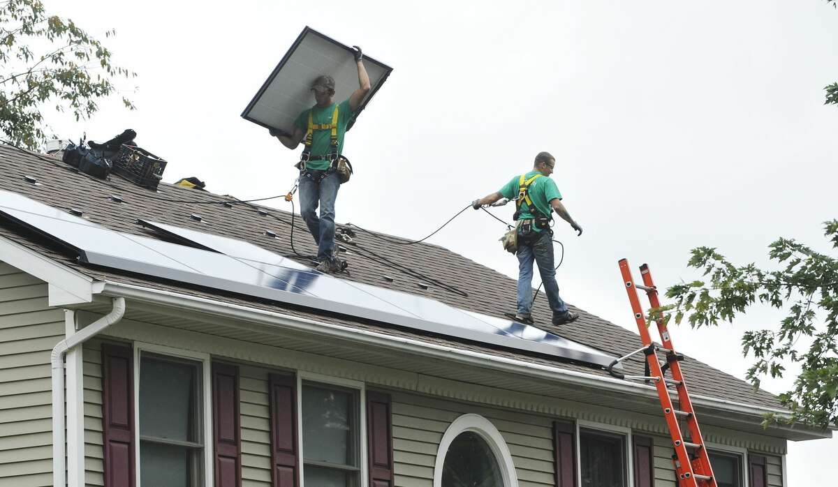 A bill signed by Gov. Andrew Cuomo should help foster more solar rooftop arrays like this one in Schenectady.