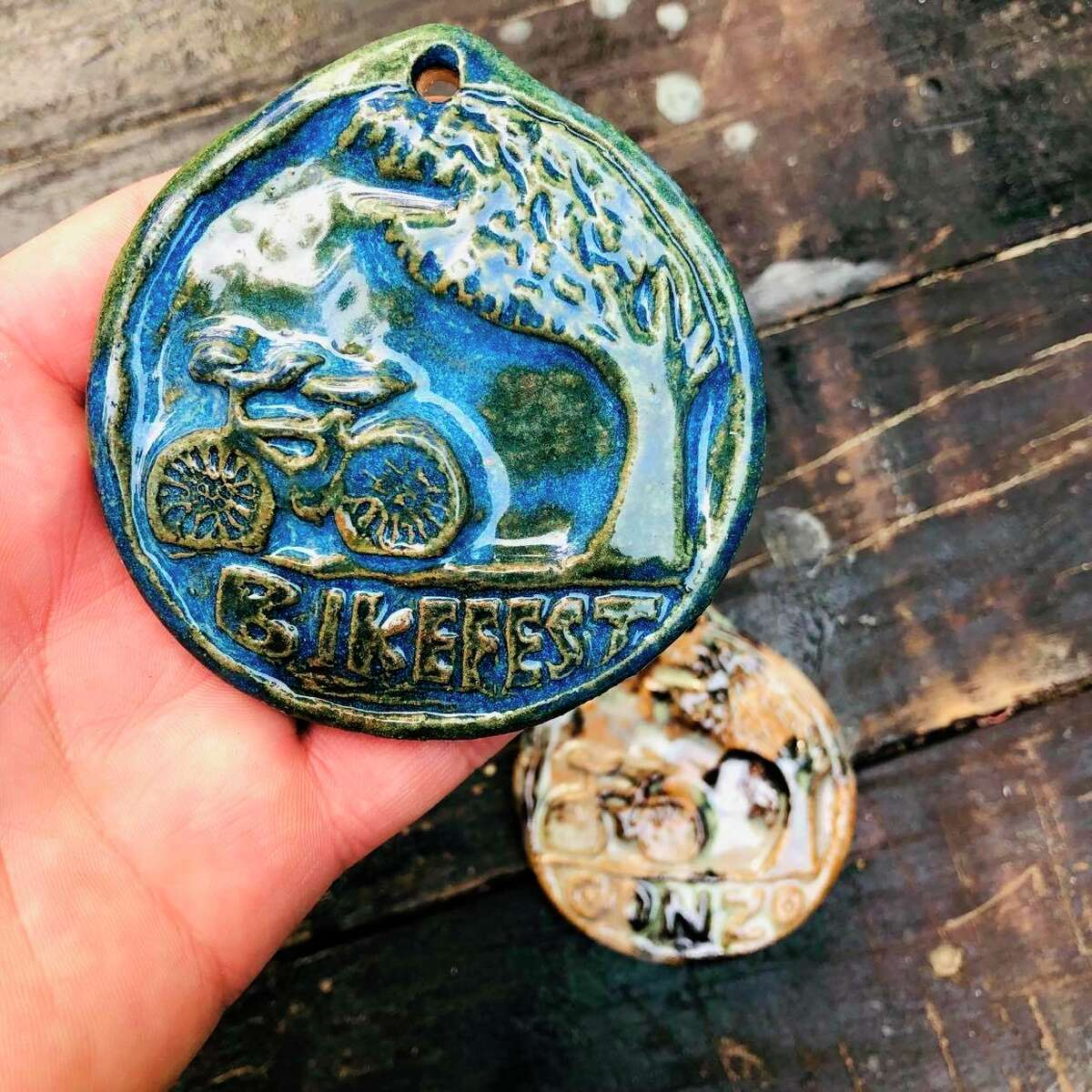 Benzie Sunrise Rotary is getting ready for its big Bike Benzie event at Crystal Mountain, which will feature one-of-a-kind medals made by Corey Bechler. (Courtesy Photo)