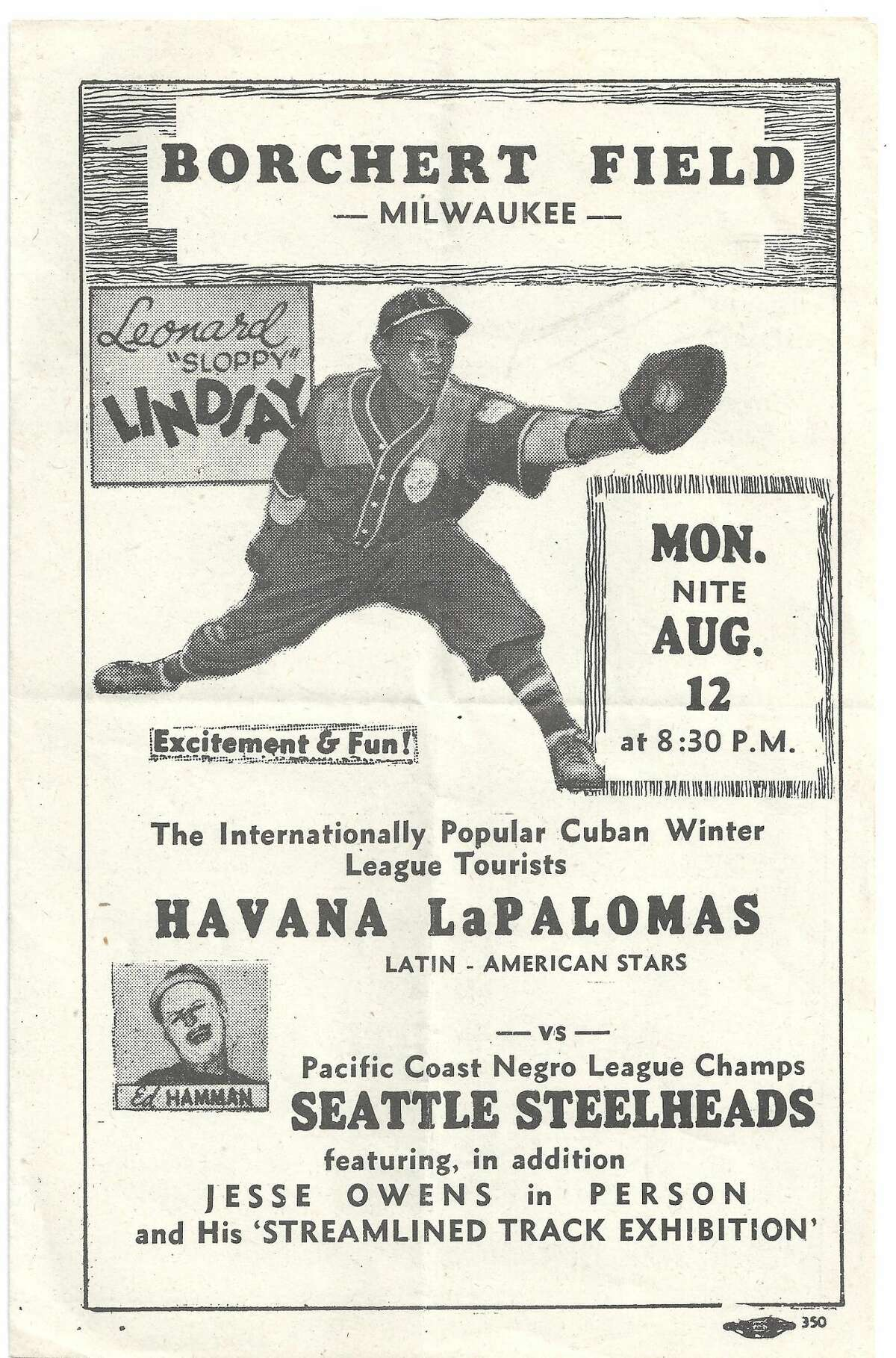 Front page of the program used along the Steelheads' traveling schedule. This particular program was used to promote the tour stop in Milwaukee.