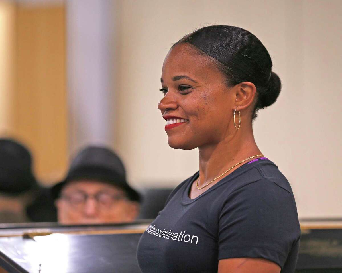 10 Danielle Campbell Steans, who started the San Antonio Ballet School in Castle Hills smiles while watching a class on Wednesday, July 28, 2021.