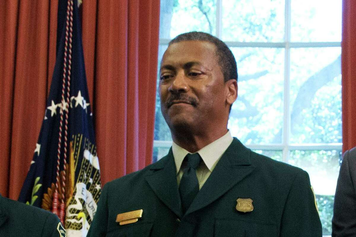 U.S. Forest Service Chief Randy Moore in a 2015 photograph. Last week Moore enacted a moratorium on controlled burning, following criticism from a handful of political leaders in California.