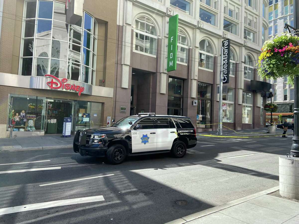 A boy was shot and injured on Stockton Street in San Francisco's Union Square on Tuesday, Aug. 10, 2021.