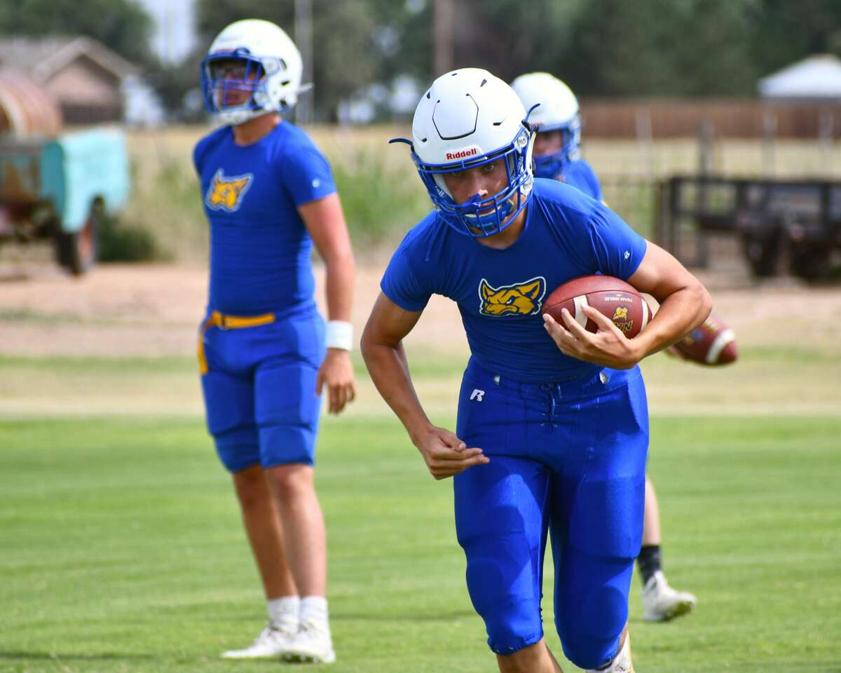 The Nazareth football team continued is preseason preparations at practice on Tuesday afternoon.