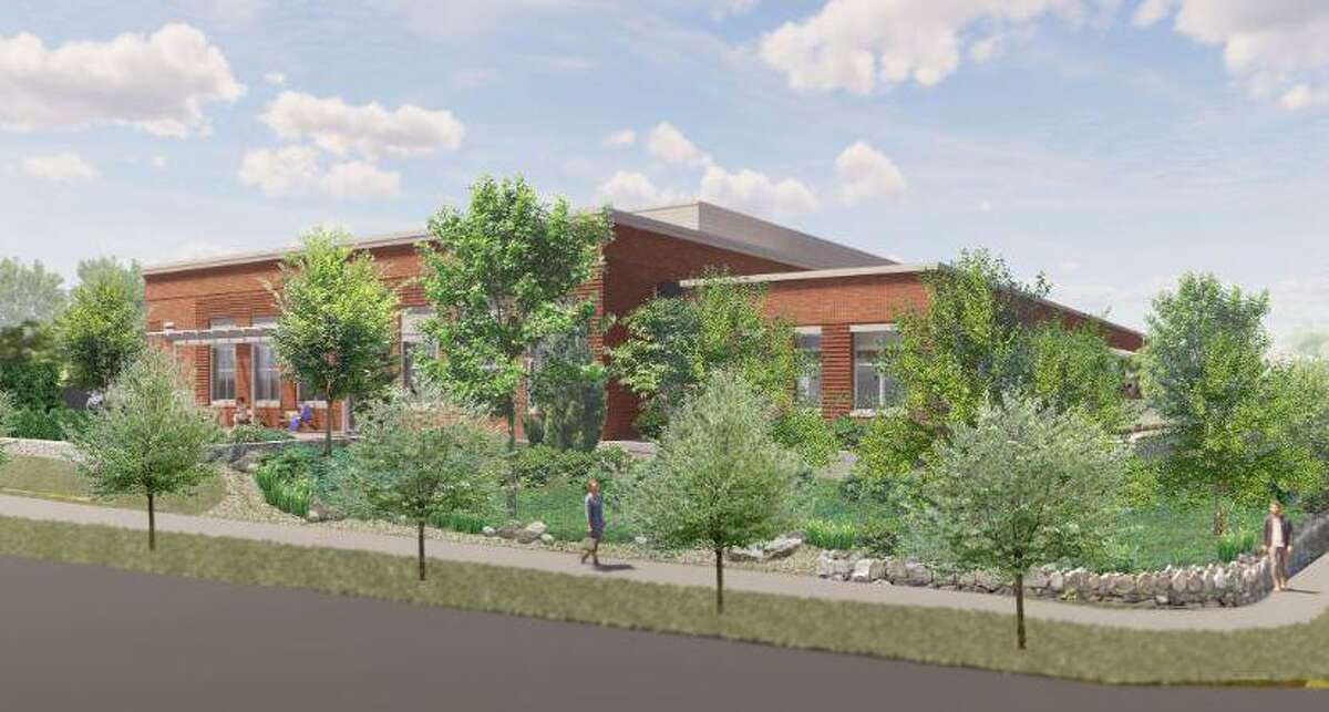 The cancer care unit was proposed for a site on Lake Avenue near Greenwich Hospital, as shown in this artist's rendering.
