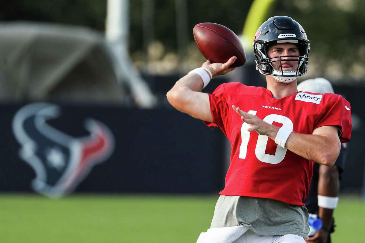 Rookie quarterback Davis Mills is expected to see his first game action when the Texans open their preseason Saturday night at Green Bay.