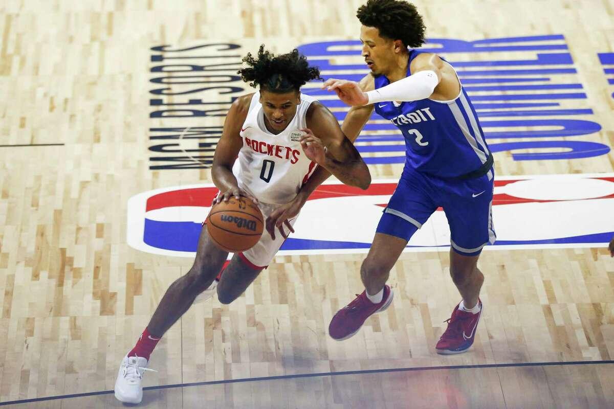 Rockets rookie Jalen Green showed plenty of potential at the NBA Summer League.