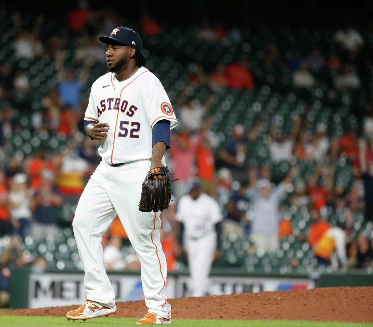 After waiting 102 games to see him in action, the Astros placed Pedro Báez back on the injured list Tuesday.