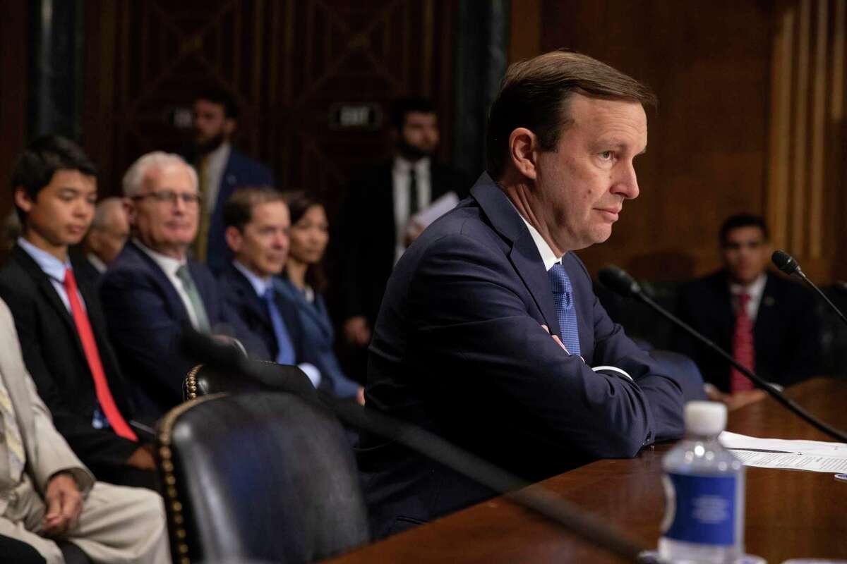 Sen. Chris Murphy, D-Conn., in Washington last month.