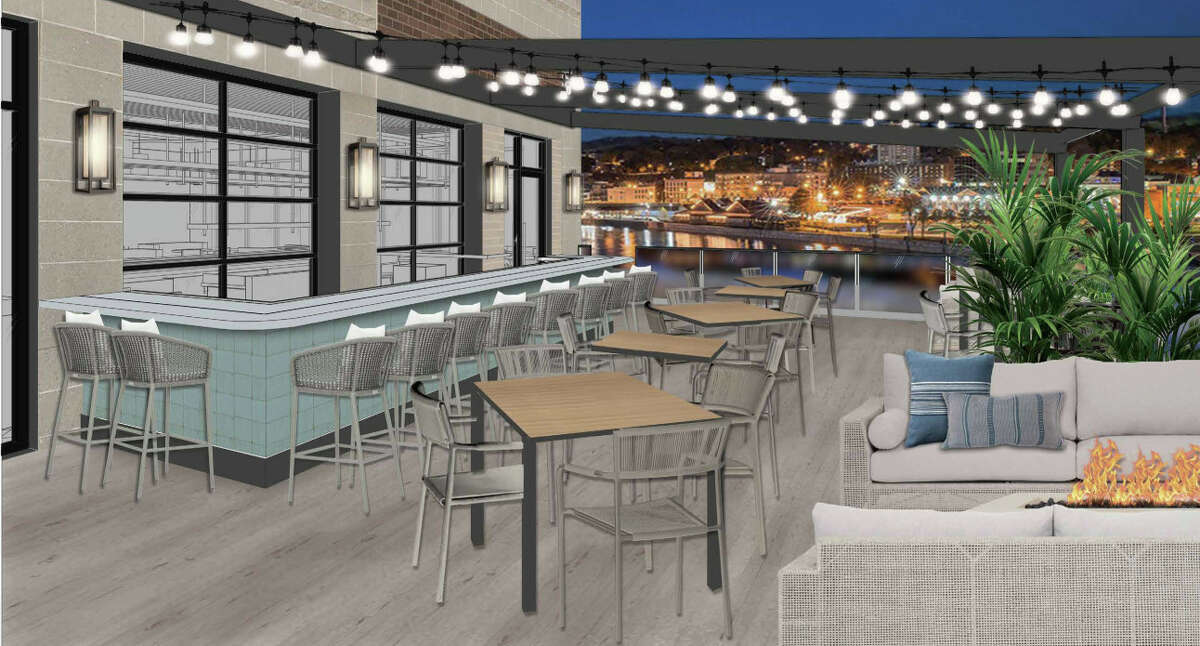Patio dining overlooks Troy at the forthcoming Sea Smoke Waterfront Grill in Green Island, being developed to open late this year on the new Starbuck Island community. The owner, Jaime Ortiz, also owns 677 Prime in Albany, Toro Cantina in Colonie and Prime Burger and Shakehouse in Troy.