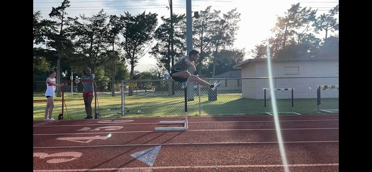 This summer, Jordan Flores' work on the track led him to compete at the summer league's state contest in Corpus Christi where he ran the 110-meter hurdles and the 300-meter hurdles.
