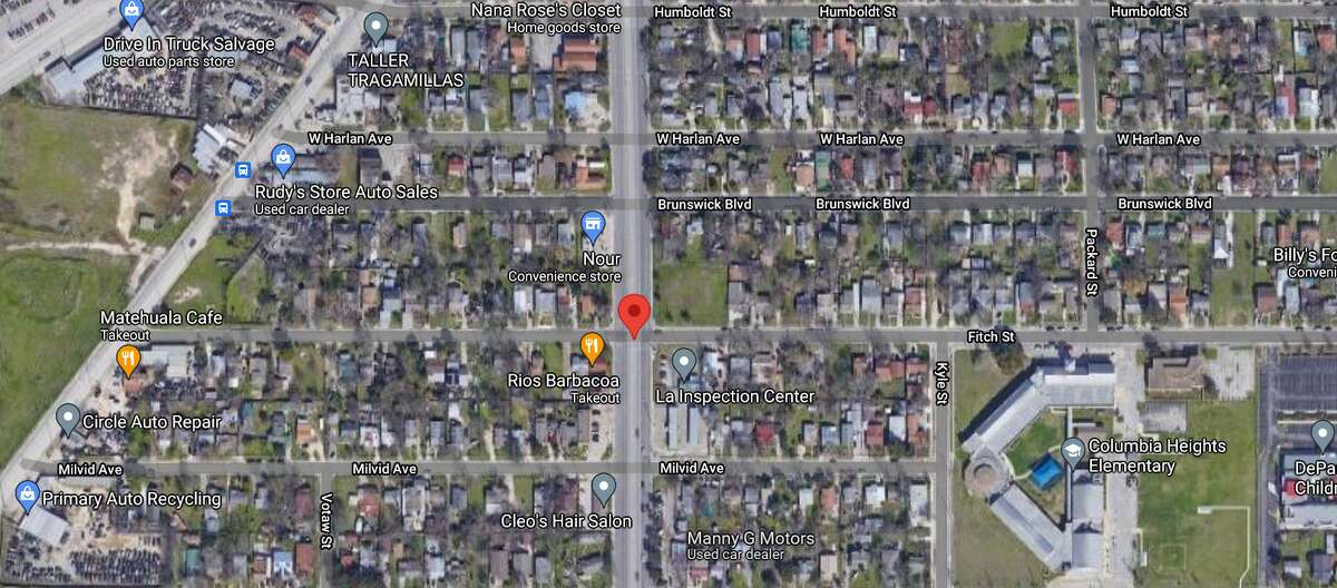 A man attempting to cross a street on the South Side was hit and killed by a pickup truck on Tuesday night, San Antonio police said. The map shows the location of the incident.