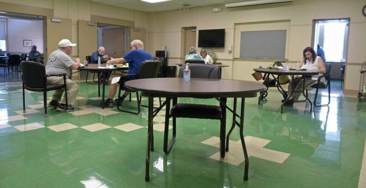 Monday lunch at the New Milford Senior Center. Monday, June 7, 2021, in New Milford, Conn.