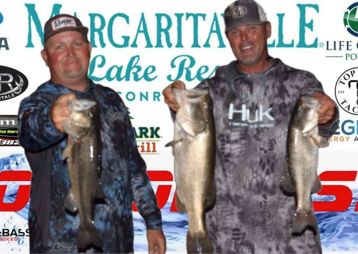Ronnie Wagner and Tommy Baker in second place in the CONROEBASS Tuesday Tournament with a weight of 11.67 pounds.