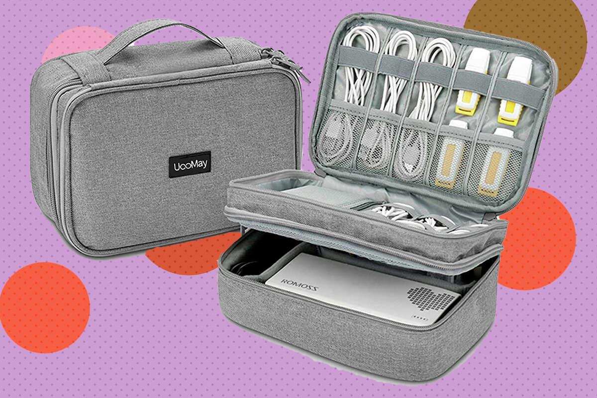 Electronic travel organizer storage bag