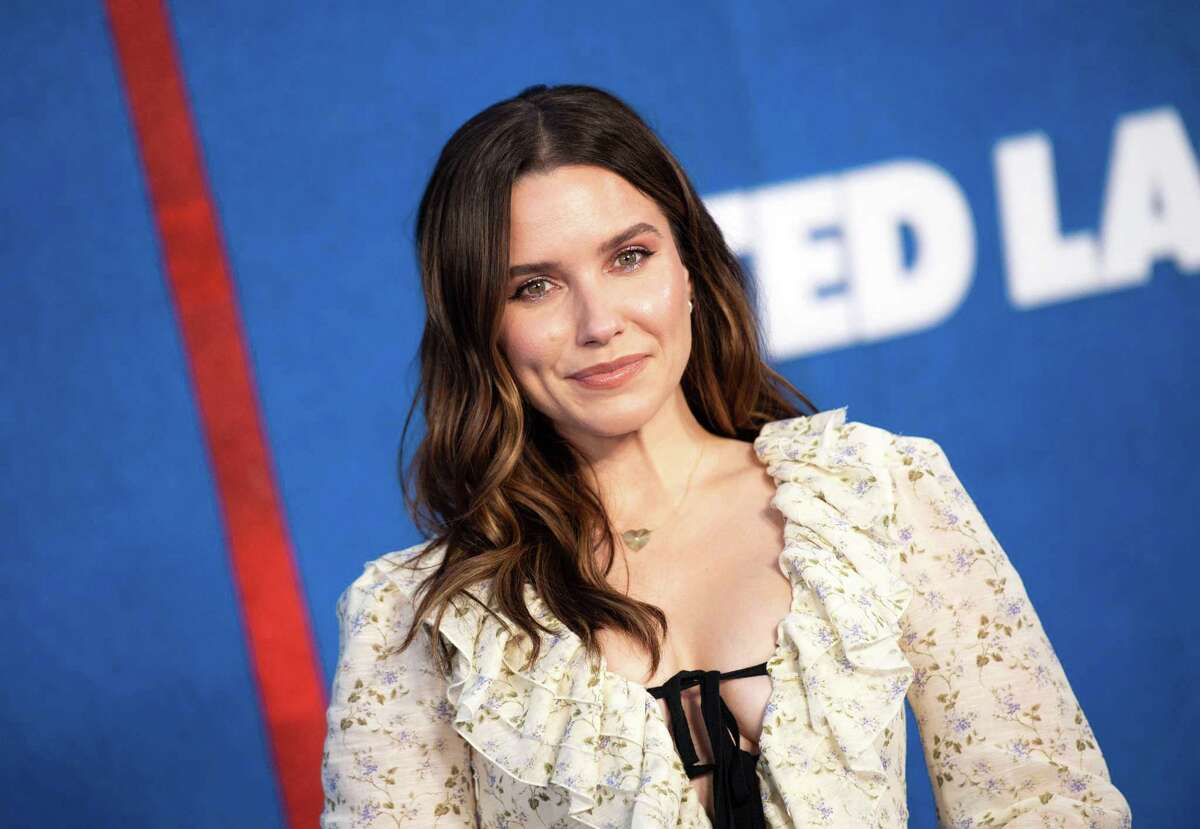 """Actress Sophia Bush attends Apple's """"Ted Lasso"""" season two premiere event red carpet at the Pacific Design Center, in West Hollywood, California, July 15, 2021. (Photo by VALERIE MACON / AFP)"""