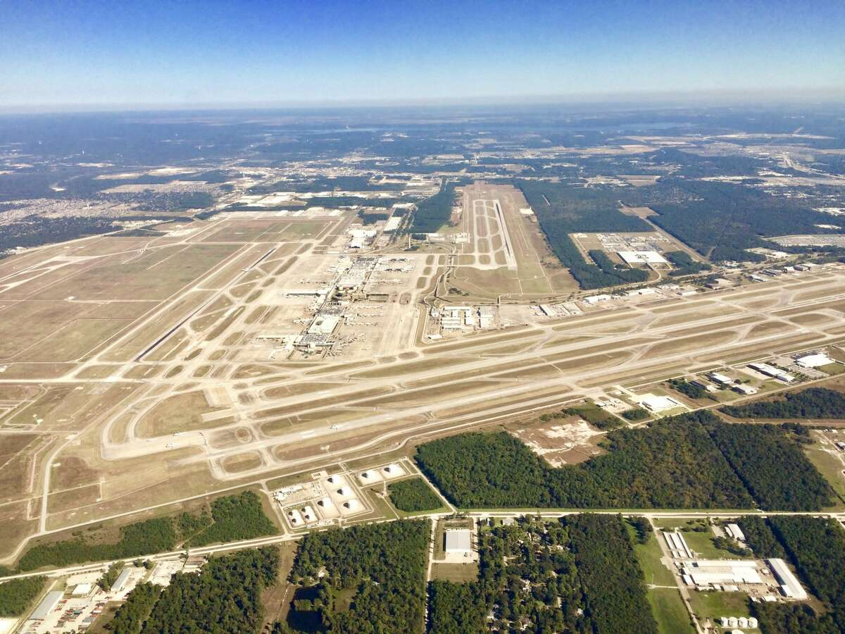 Bush Intercontinental Airport sprawls across 10,000 acres in north Houston.