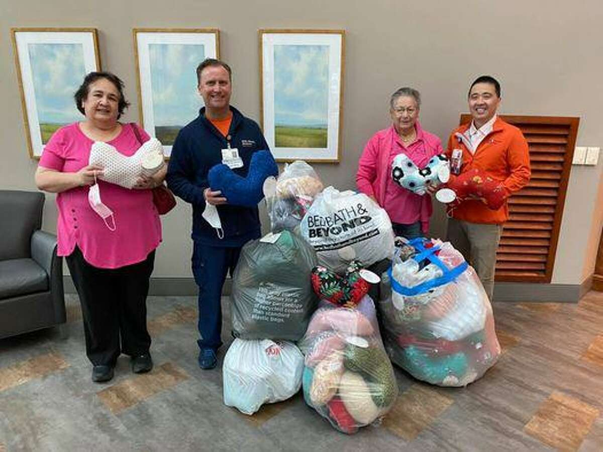 Through the annual Pillow Pals project, the Cy-Fair Women's Club creates and donates heart-shaped pillows to local hospitals.