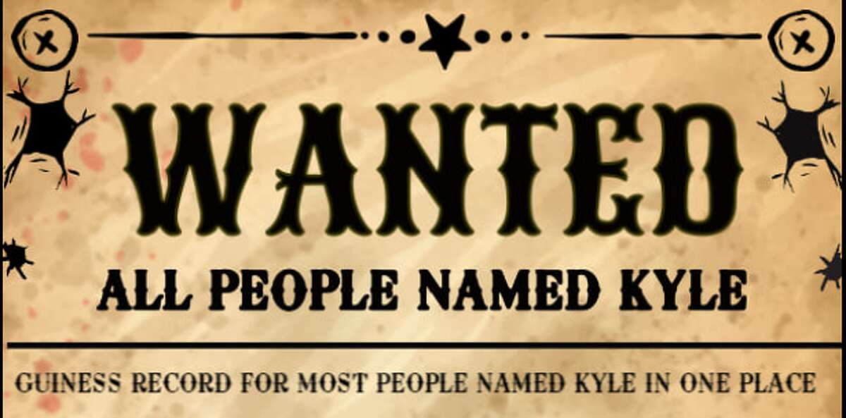 Over Labor Day weekend, the city of Kyle will attempt to set a Guinness World Record for gathering the most people named Kyle in one place.