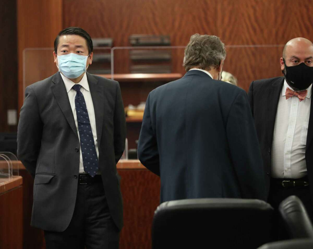 State Representative Gene Wu appears in State District Judge Chris Morton's court at the Criminal Courthouse, Wednesday, August 11, 2021, in Houston. Wu expected to challenge order that seeks civil arrest of state lawmakers who fled during the special session. The judge granted a writ of habeas corpus for Wu, pre-empting a civil arrest warrant for his absence in the Texas Legislature.