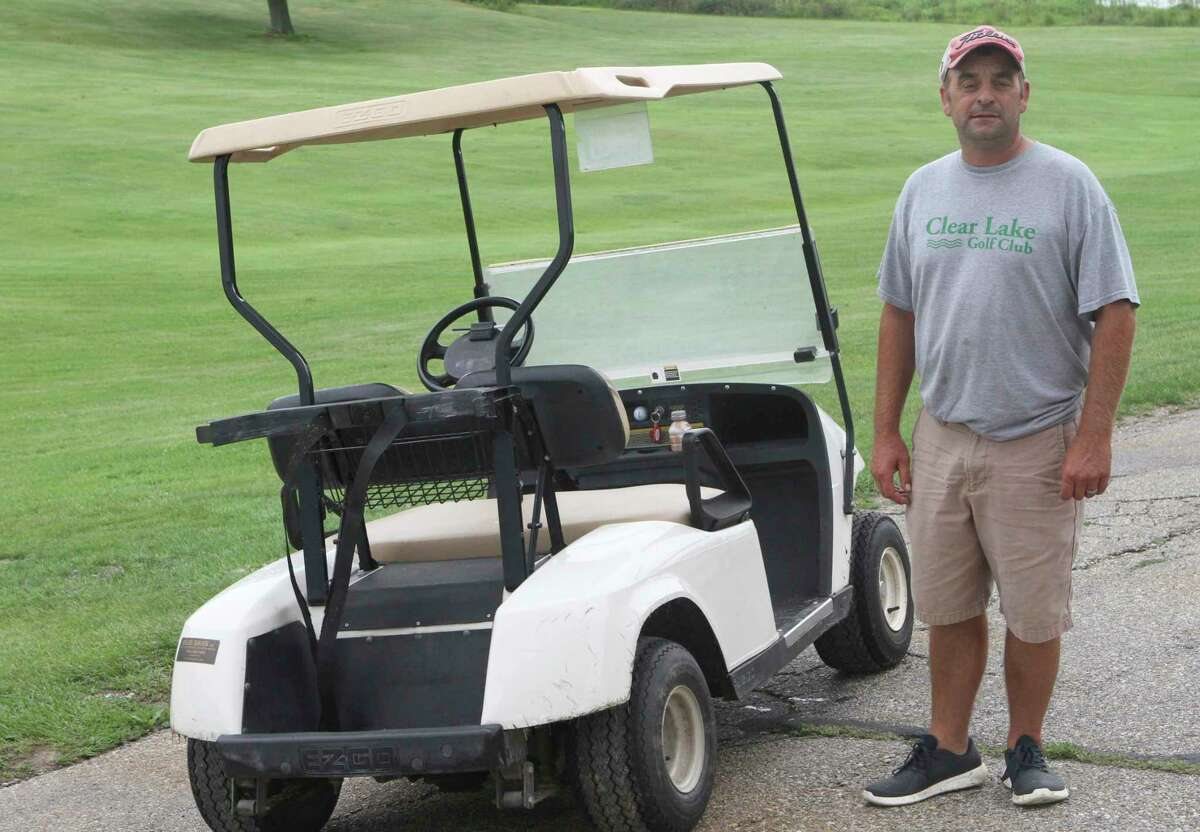 Clear Lake Golf Club owner Chad Currie spends every day making sure the course is in the best shape possible for golfers. (Pioneer photo/Joe Judd)