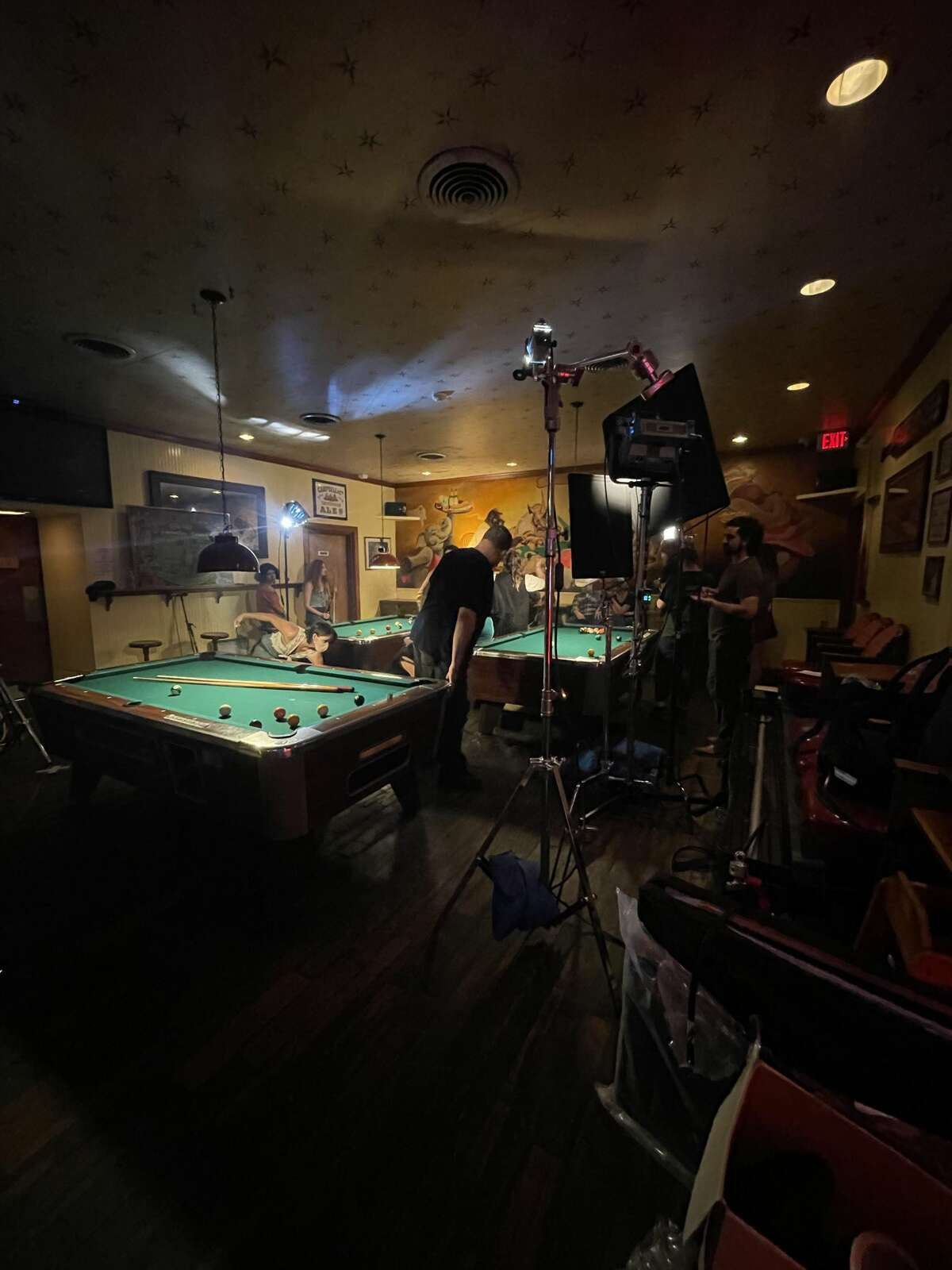"""Behind the scenes of """"One of them guys""""  at the Bombay Bicycle Club."""