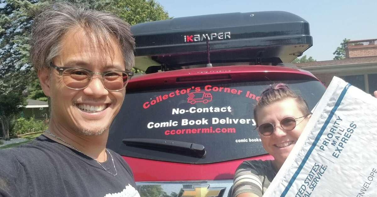 Collector's Corner Inc. owner Andrew Iwamasa (pictured left) offers a delivery service to people in the greater Midland area.