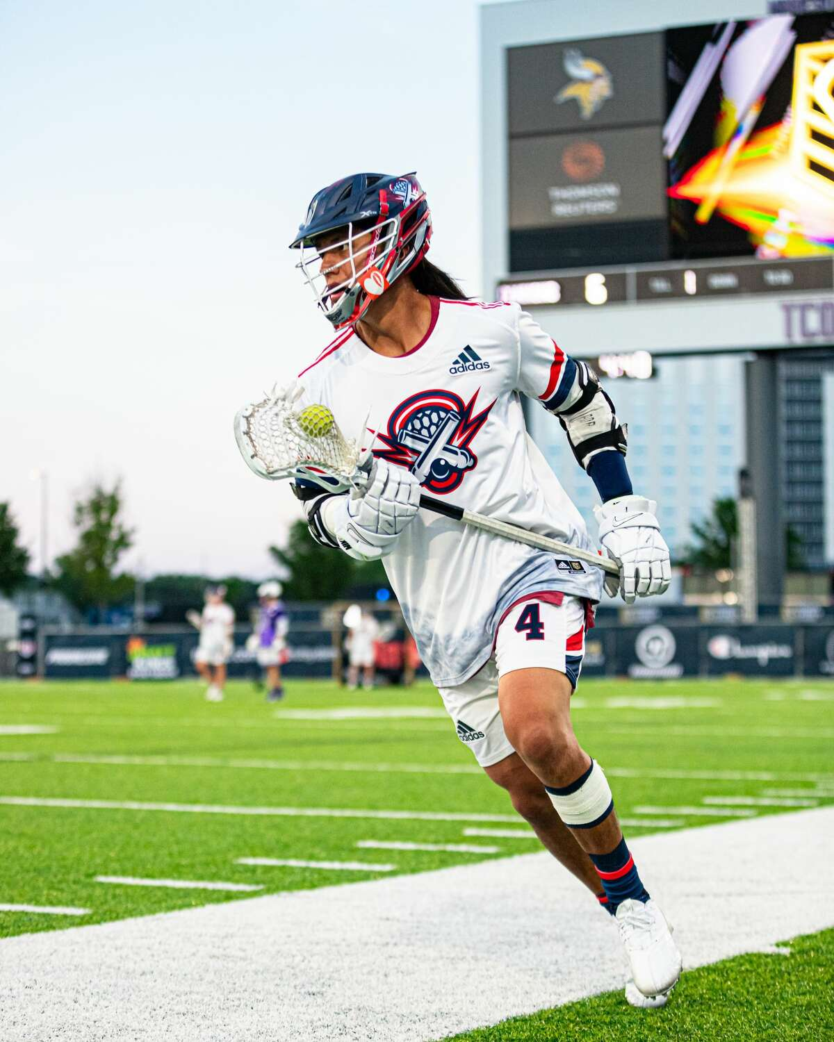 Lyle Thompson, now with the Cannons in the Premier Lacrosse League, scored an NCAA Division I record 400 points during his University at Albany career.