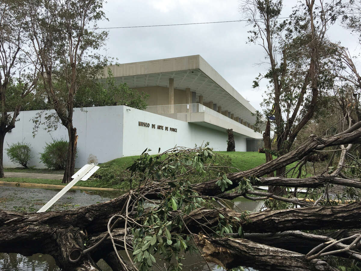The Museo de Arte de Ponce, the oldest museum in Puerto Rico, after Hurricane Maria in 2017.