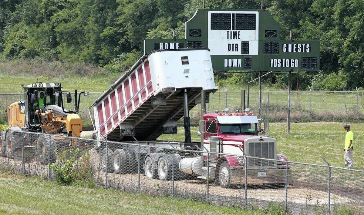 A few phone calls and a lot of connections are helping Our Saviour and Routt get a new track - which normally would cost about $500,000 - for almost nothing.